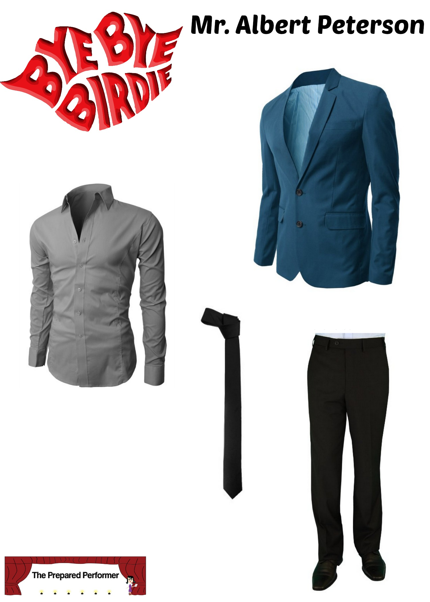 bye bye birdie mens audition  sc 1 st  The Prepared Performer & WHAT TO WEAR TO AN AUDITION FOR BYE BYE BIRDIE - The Prepared Performer