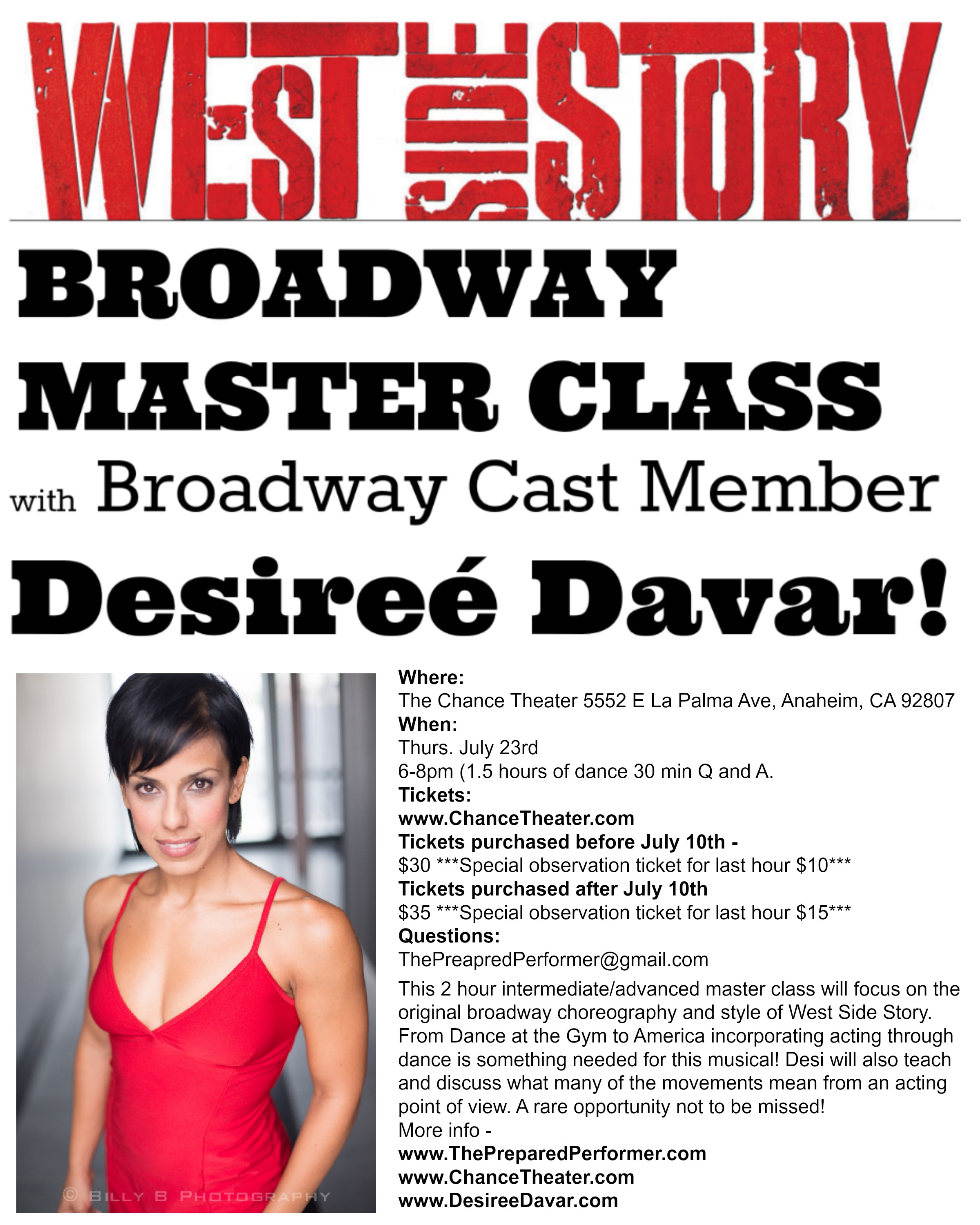West Side Story Broadway Master Class