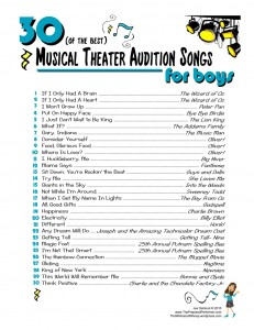 Best 30 Audition Songs for Boys