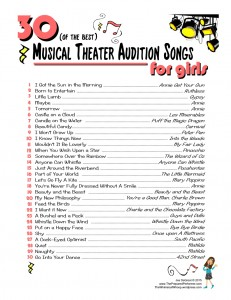 Best 30 Audition Songs for Girls