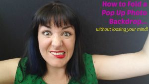 How to fold a pop up backdrop
