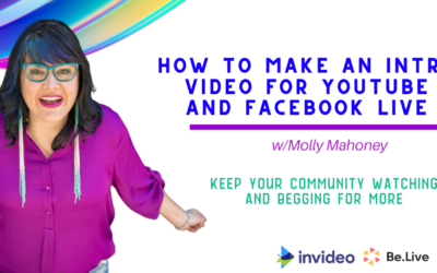 How to Make an Intro Video for YouTube and Facebook Live
