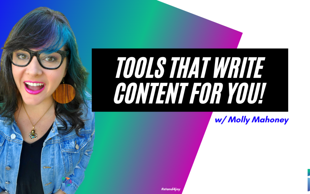 Tools That Write Content For You