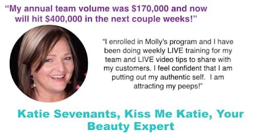 Katie Sevenants, giving a testimonial of a camera confidence course
